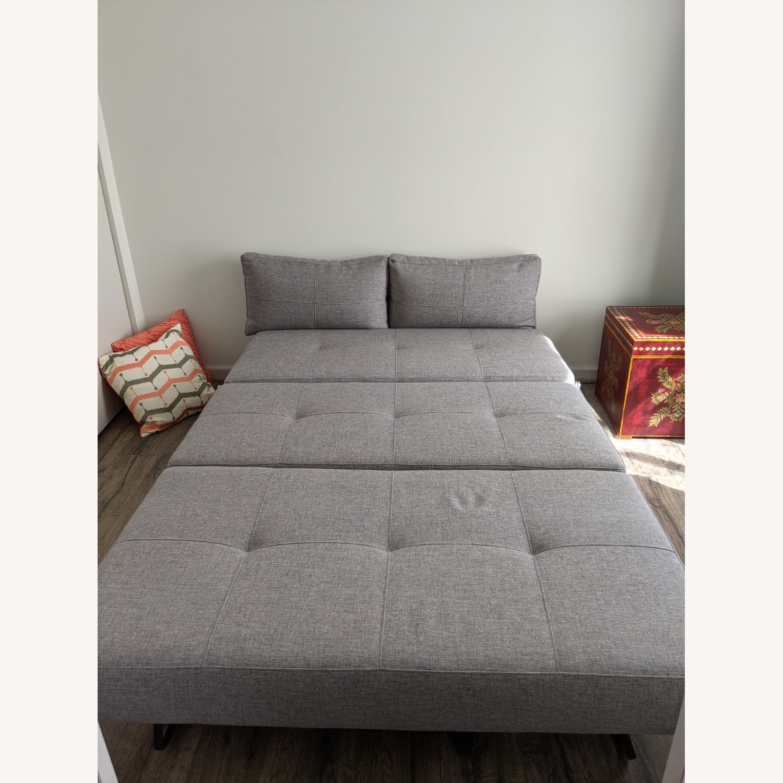 Modern Gray Innovation Living Full Size Sofa Bed - image-6