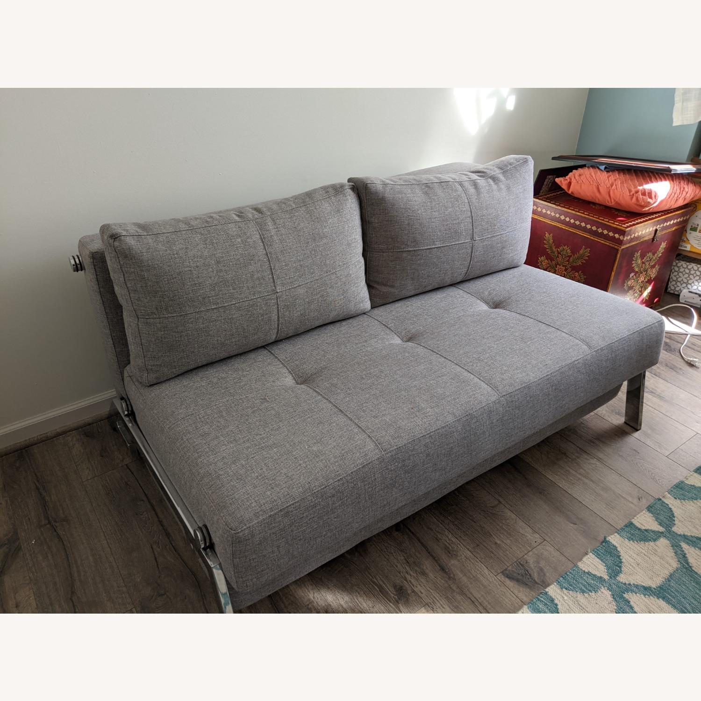 Modern Gray Innovation Living Full Size Sofa Bed - image-5