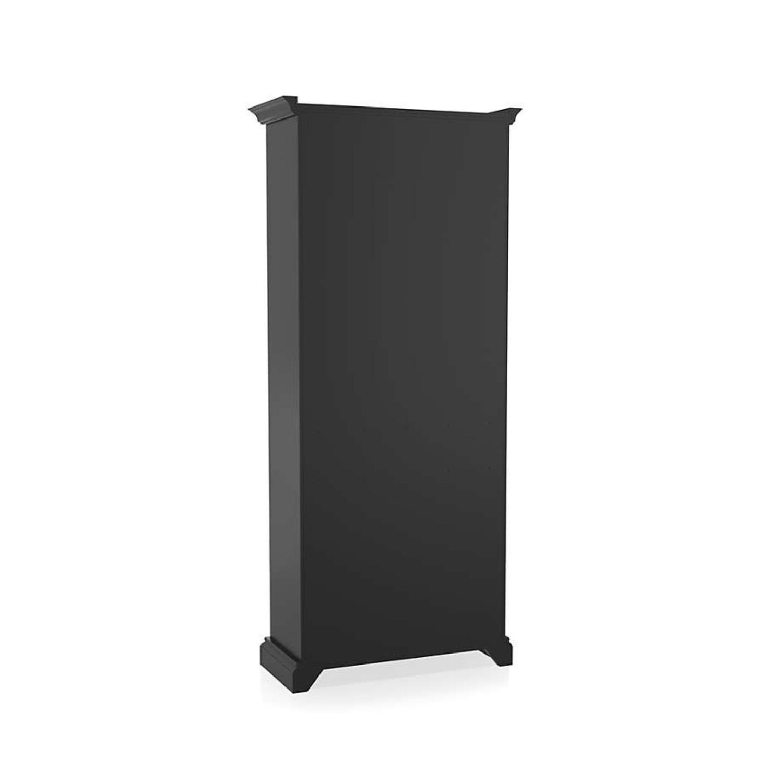 Crate & Barrel Cameo Bruno Black Open Bookcase - image-4