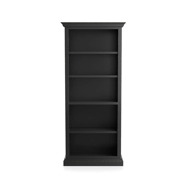 Crate & Barrel Cameo Bruno Black Open Bookcase - image-5