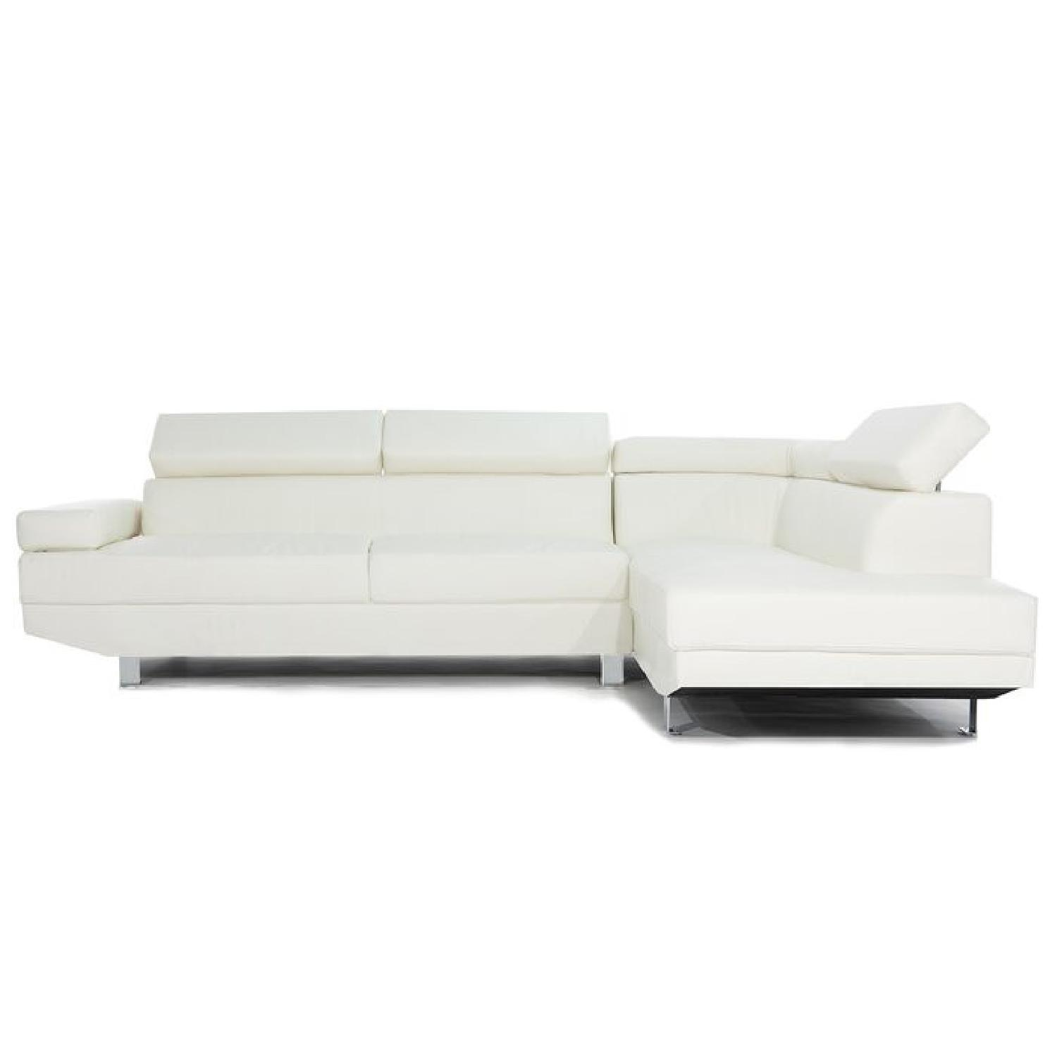 Wayfair White Sectional Sofa - image-4