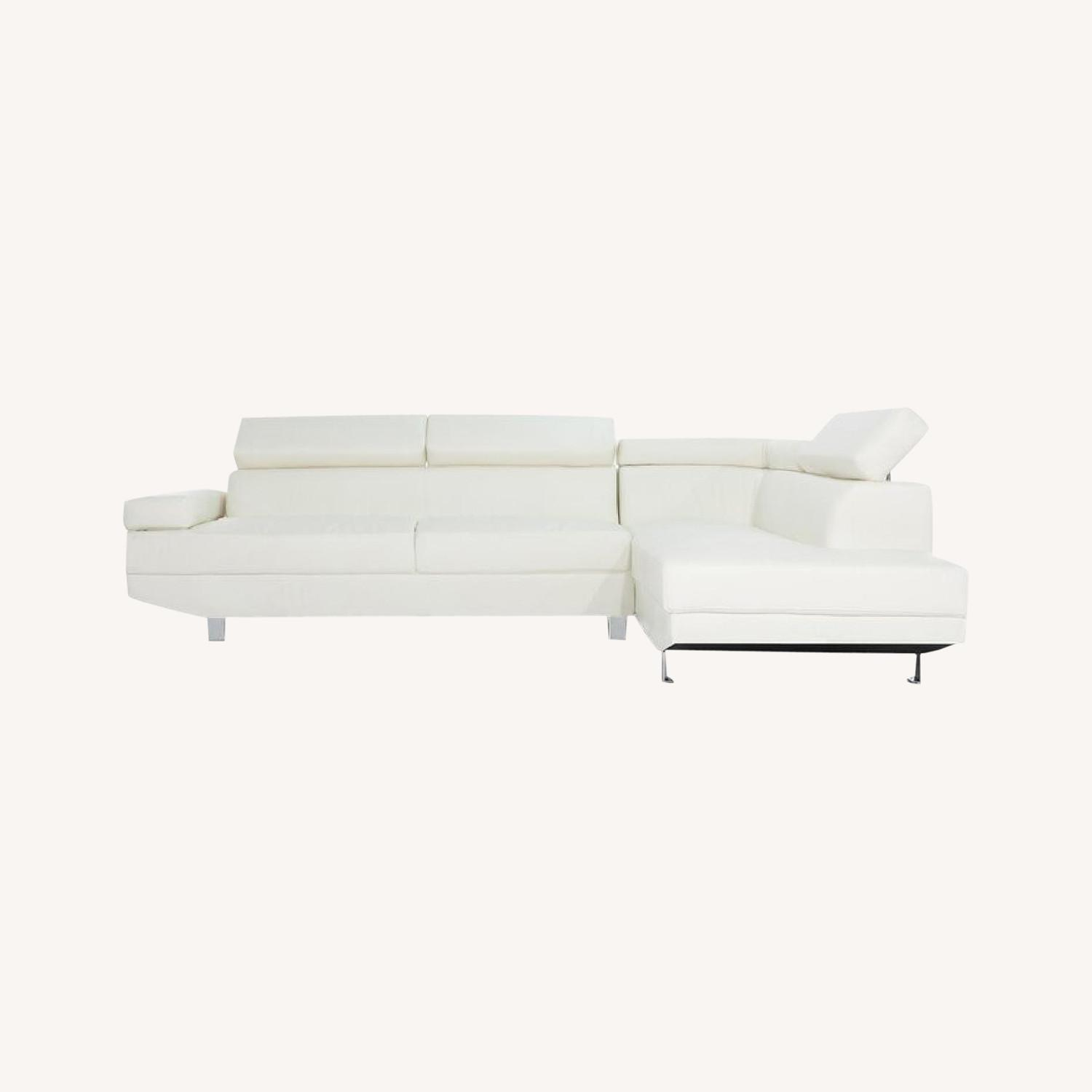 Wayfair White Sectional Sofa - image-0