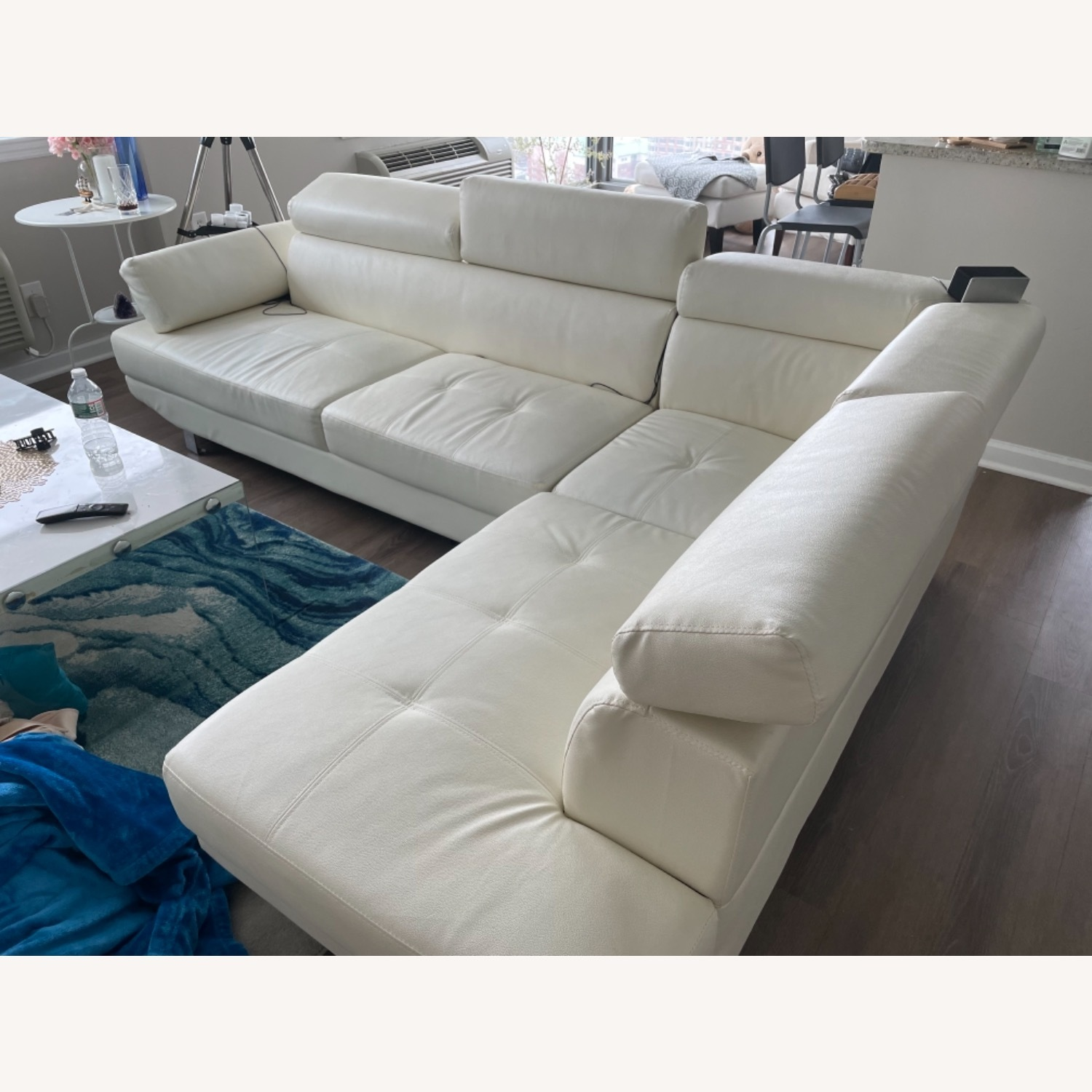 Wayfair White Sectional Sofa - image-1