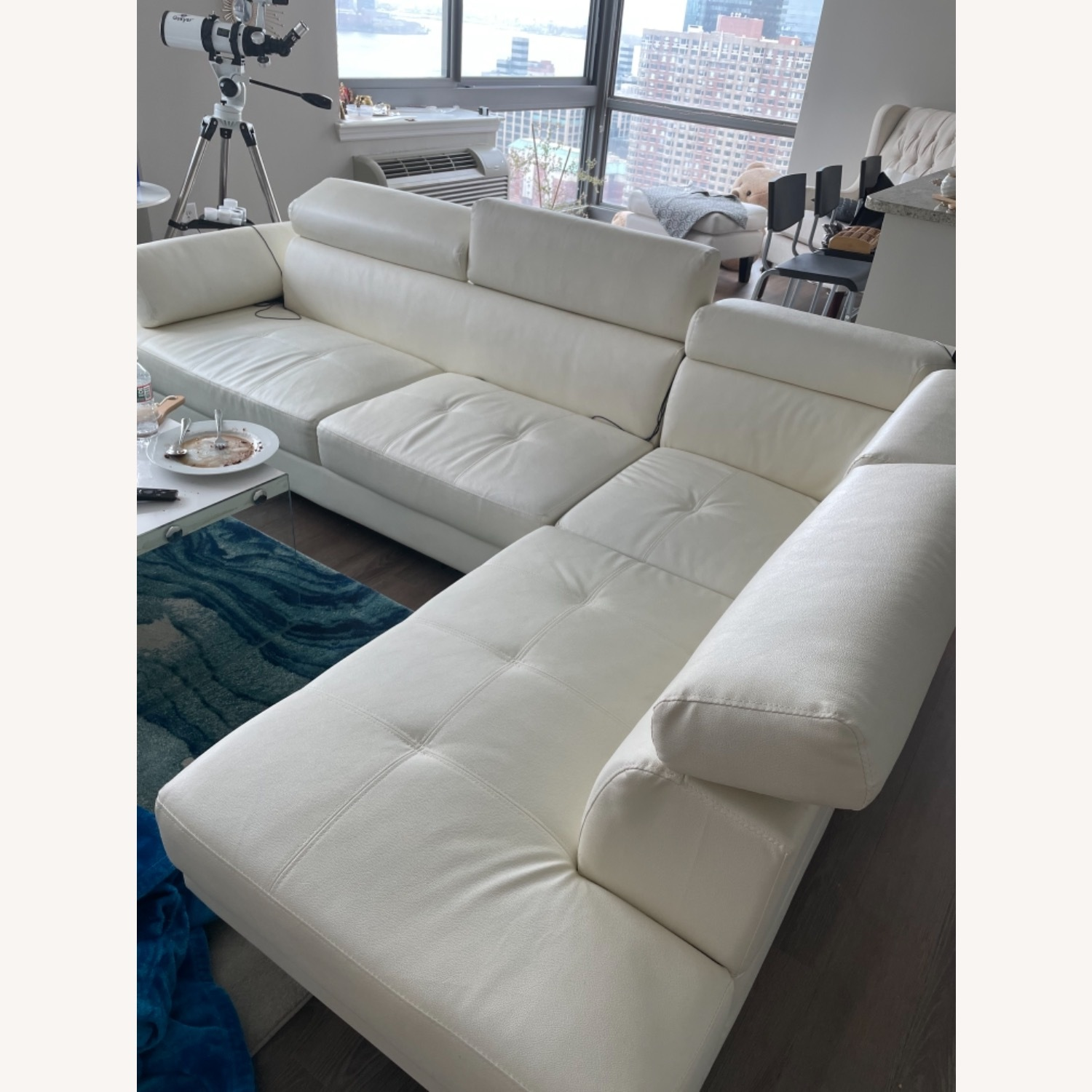 Wayfair White Sectional Sofa - image-2