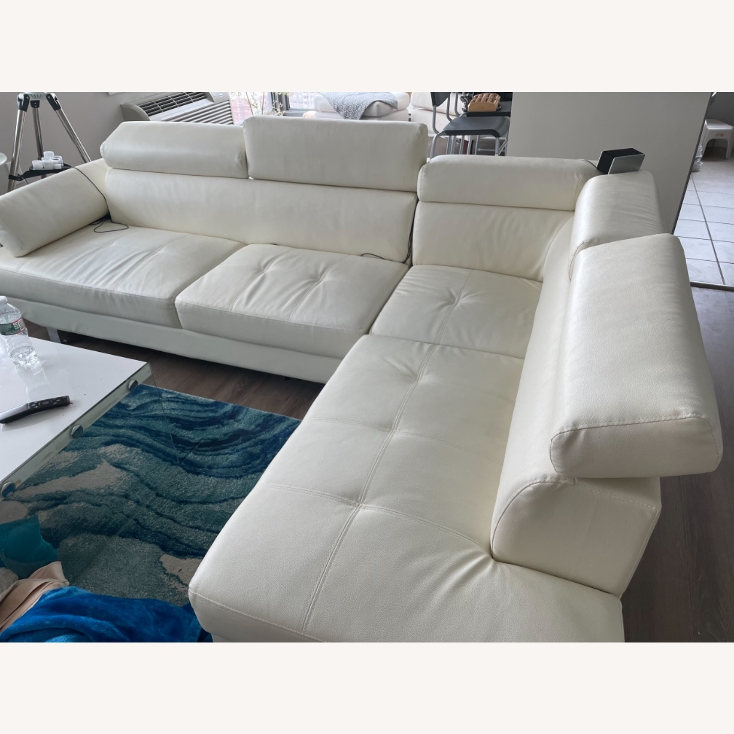 Wayfair White Sectional Sofa - image-3