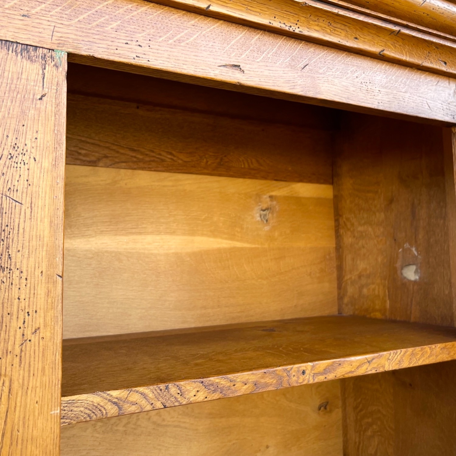 Antique Country Style Cupboard With Topper - image-6