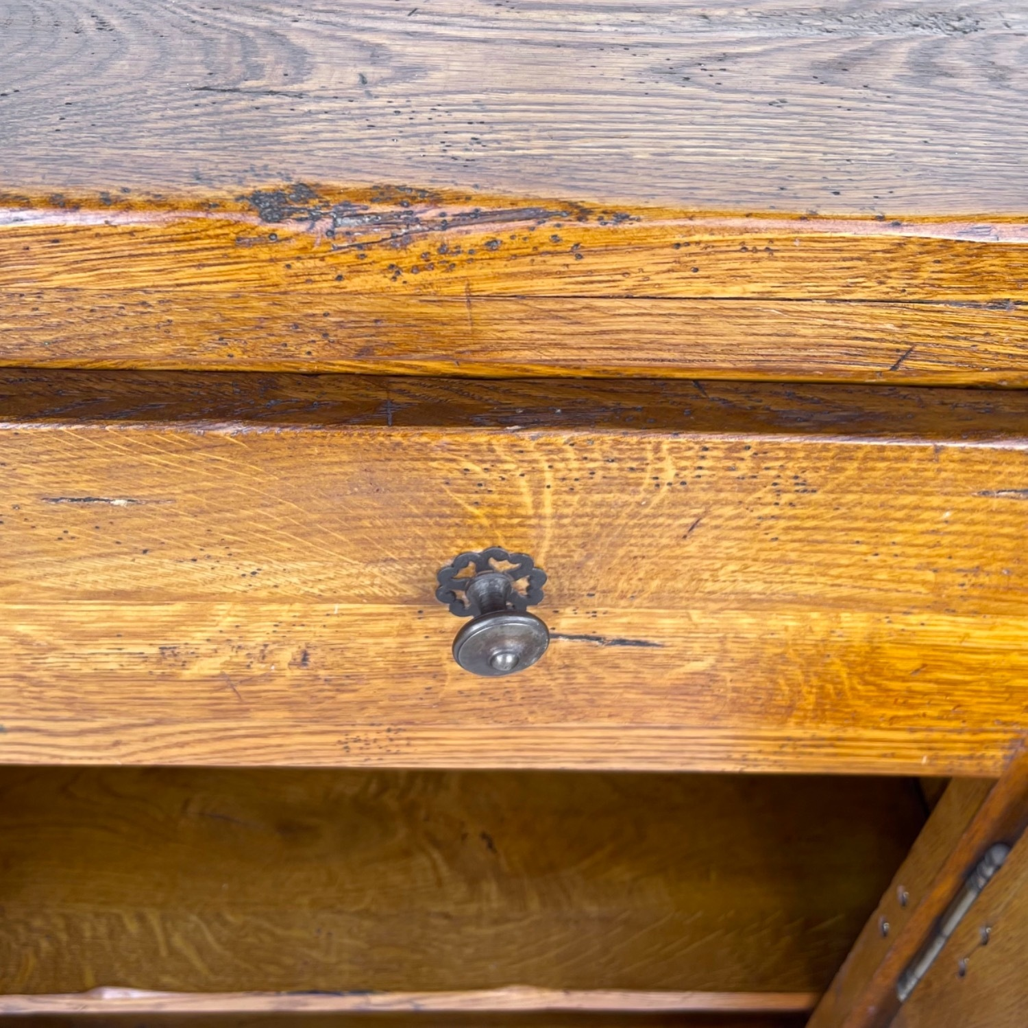 Antique Country Style Cupboard With Topper - image-13