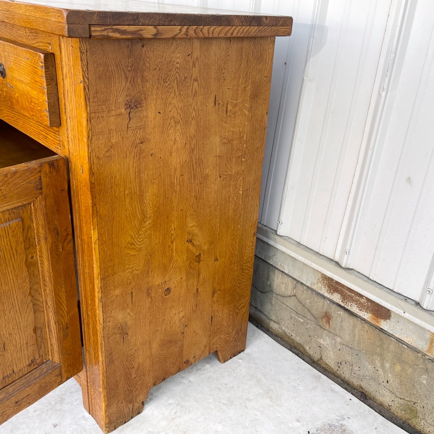 Antique Country Style Cupboard With Topper - image-15
