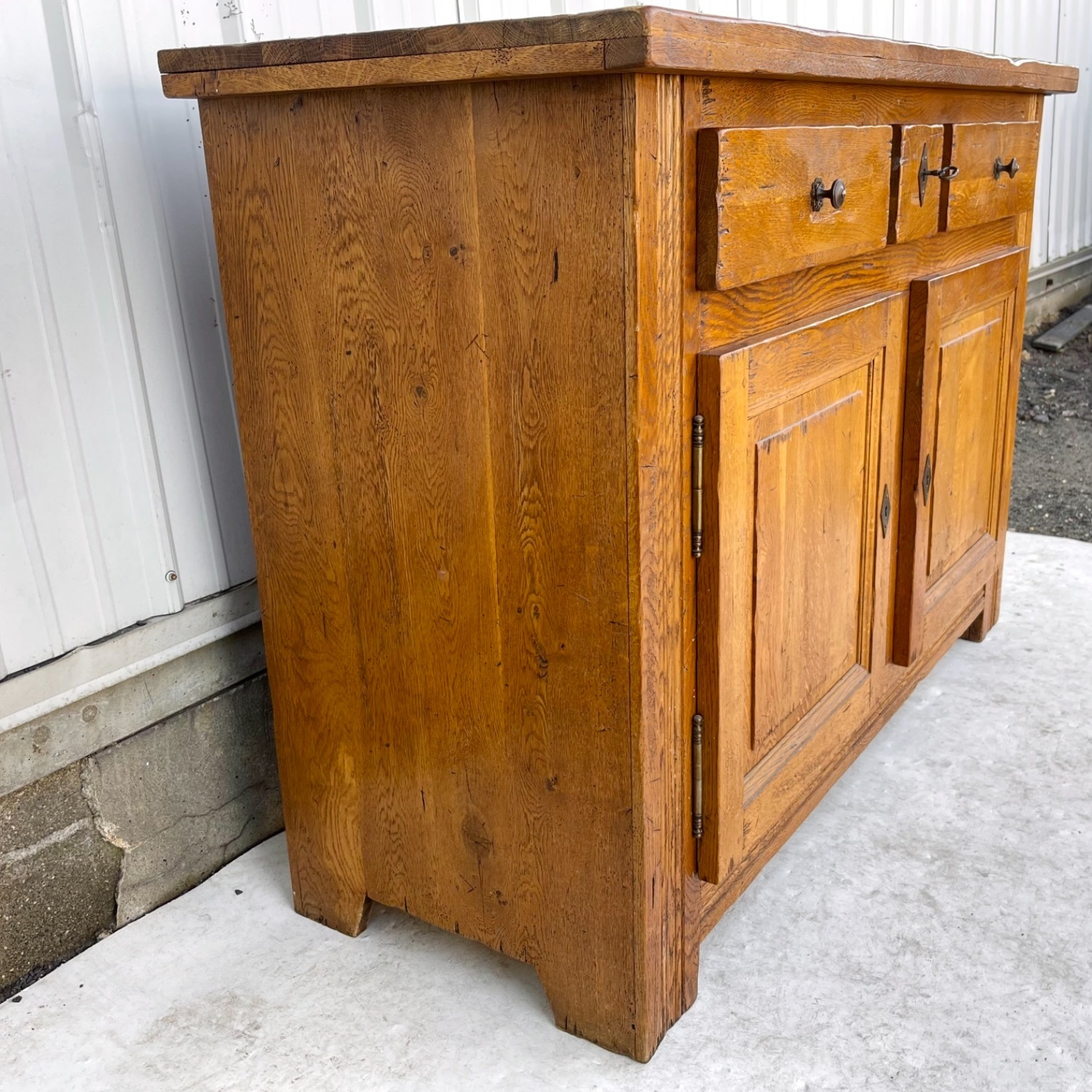 Antique Country Style Cupboard With Topper - image-14