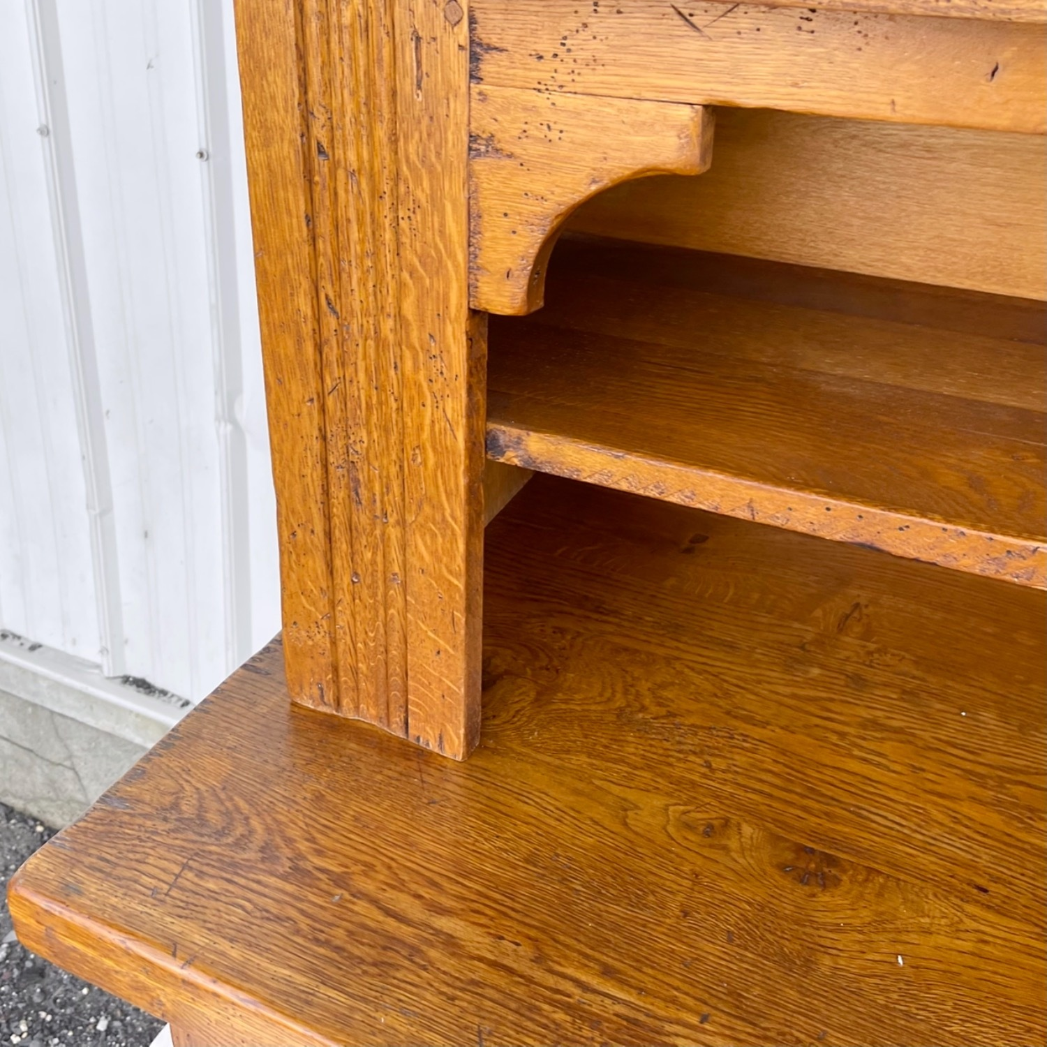 Antique Country Style Cupboard With Topper - image-9