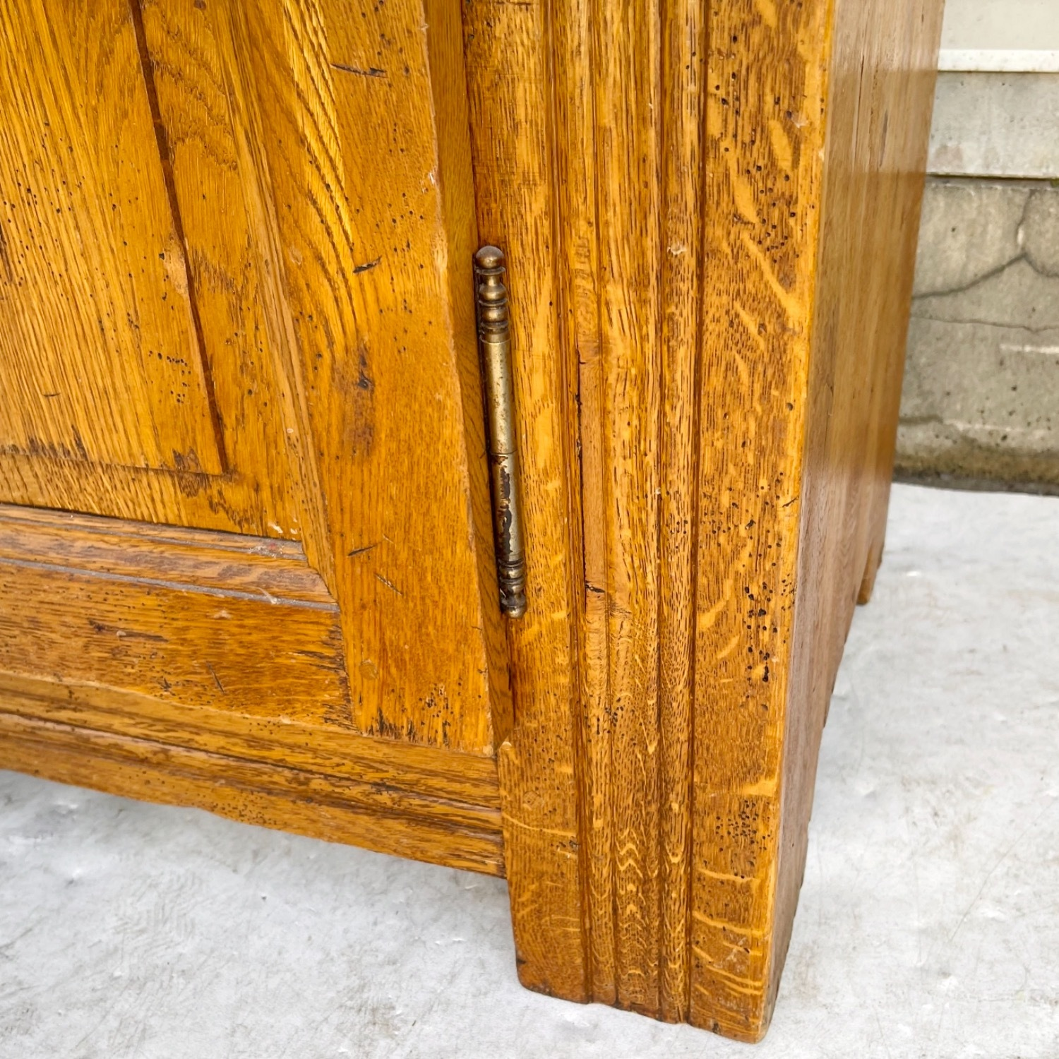 Antique Country Style Cupboard With Topper - image-12