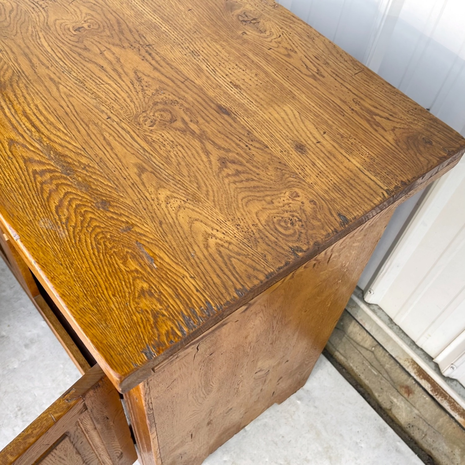 Antique Country Style Cupboard With Topper - image-16