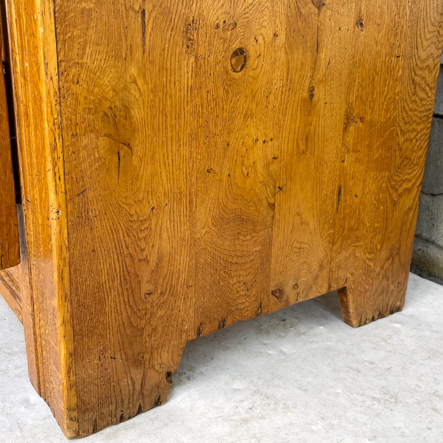Antique Country Style Cupboard With Topper - image-24