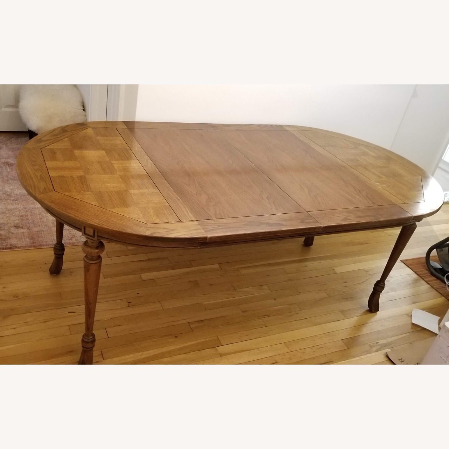 Antique Expandable Dining Table - image-5
