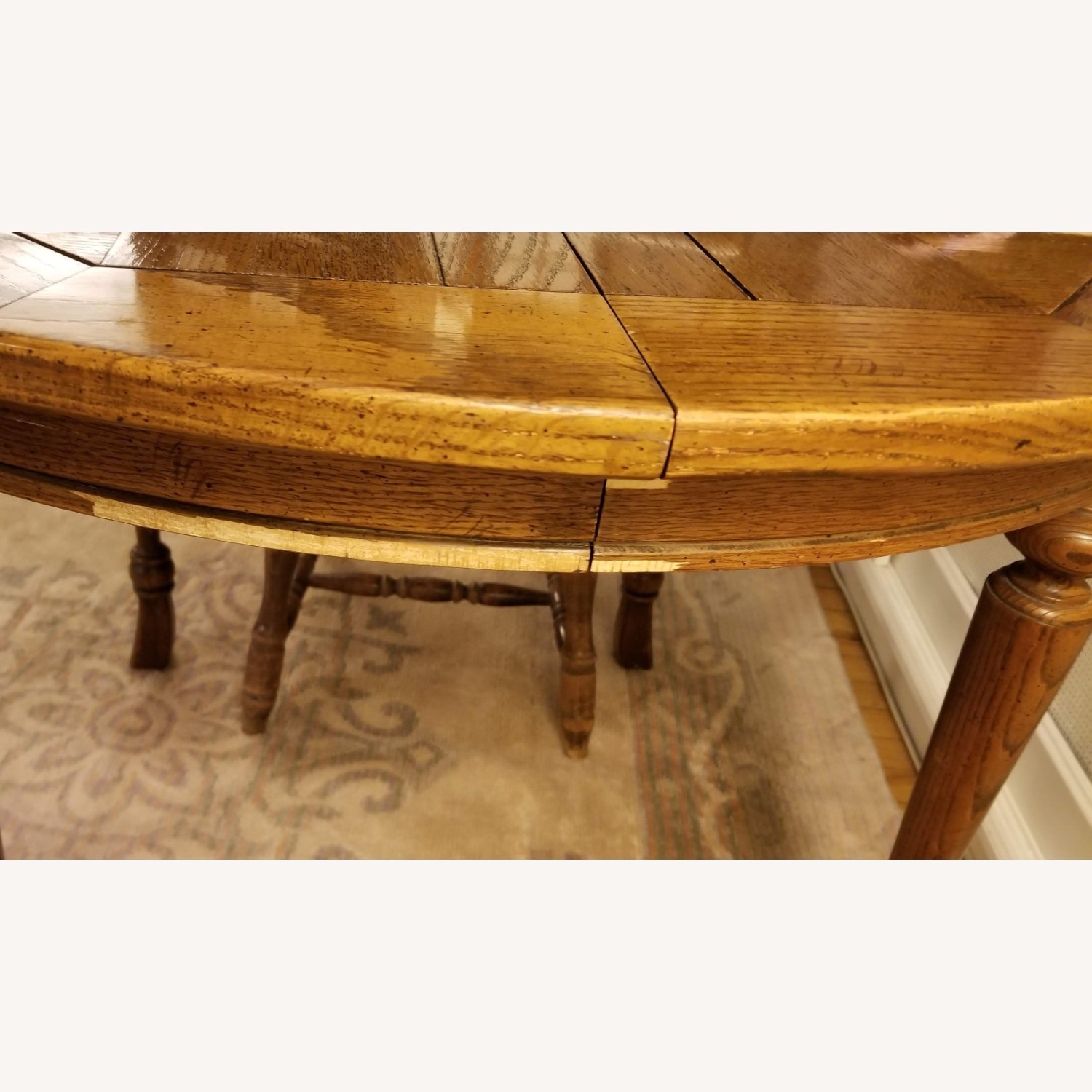 Antique Expandable Dining Table - image-8