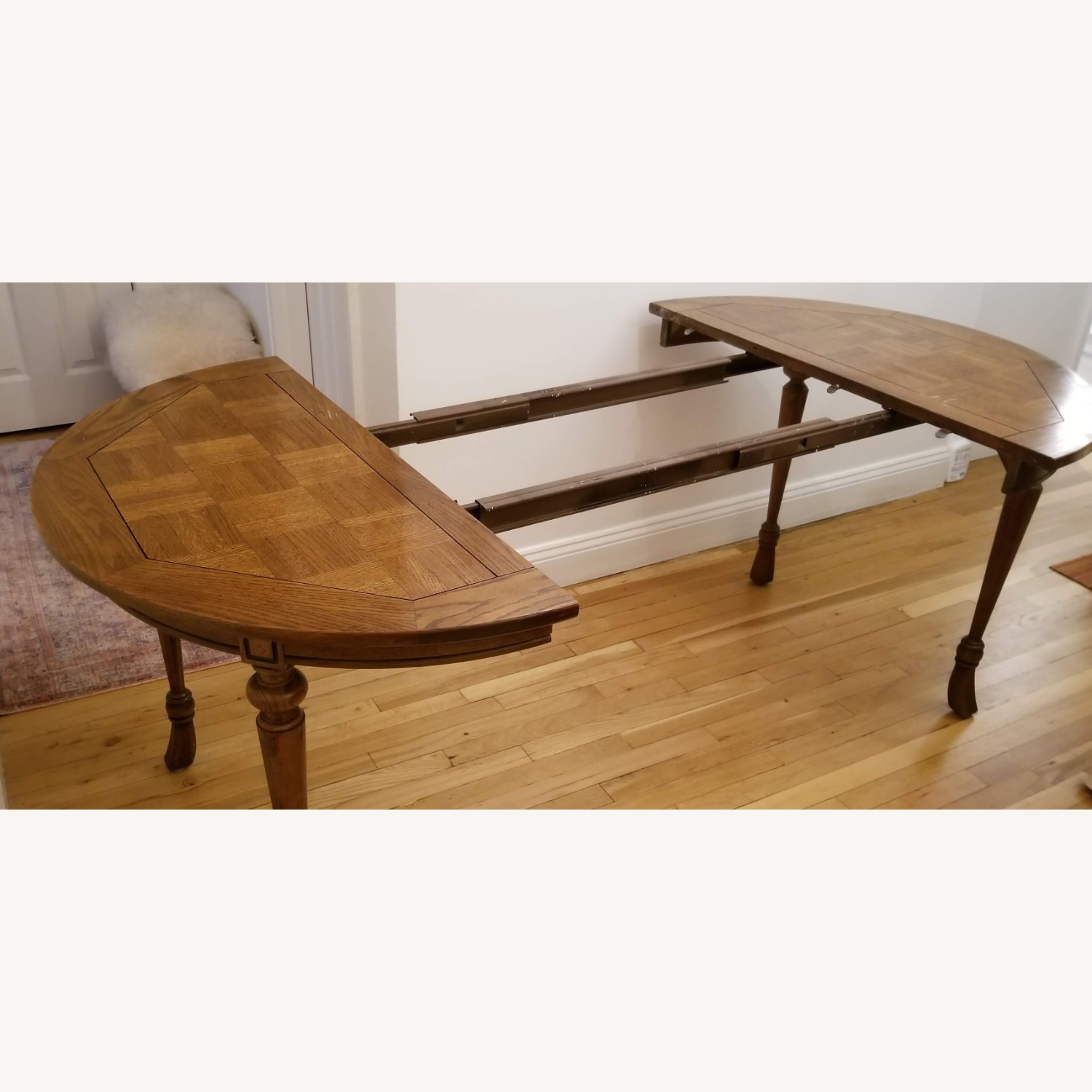 Antique Expandable Dining Table - image-4