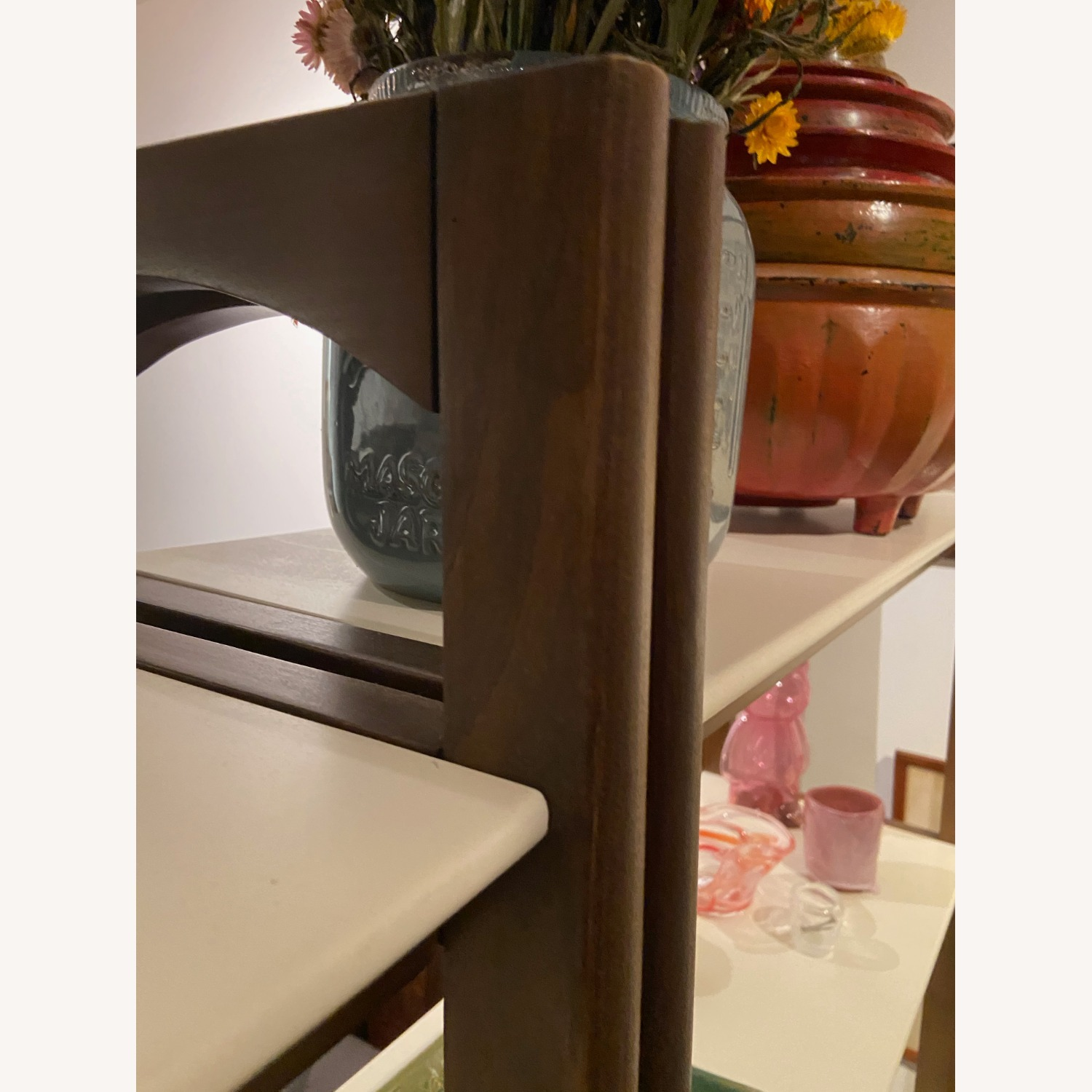 Wayfair Acacia Wood Ladder Bookcase - image-4