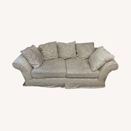 Used Shabby chic 2 Seater Sofa in Ivory Damask Pattern for sale on AptDeco