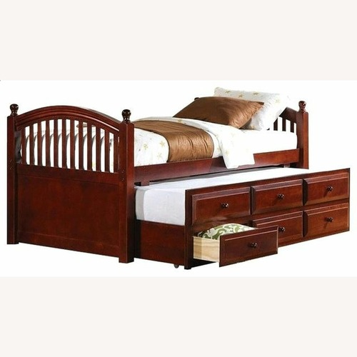 Used Captain's Bed In Chestnut Finish W/ Trundle for sale on AptDeco