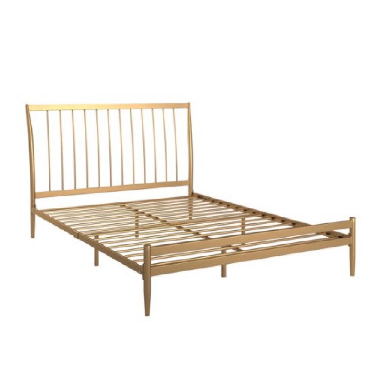 Walmart Gold Metal Full Bed Frame - image-0