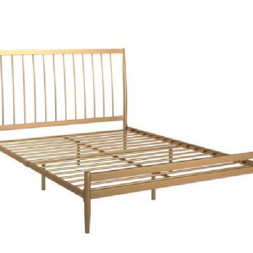 Used Walmart Gold Metal Full Bed Frame for sale on AptDeco