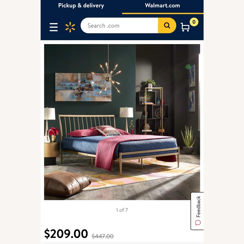Walmart Gold Metal Full Bed Frame - image-1