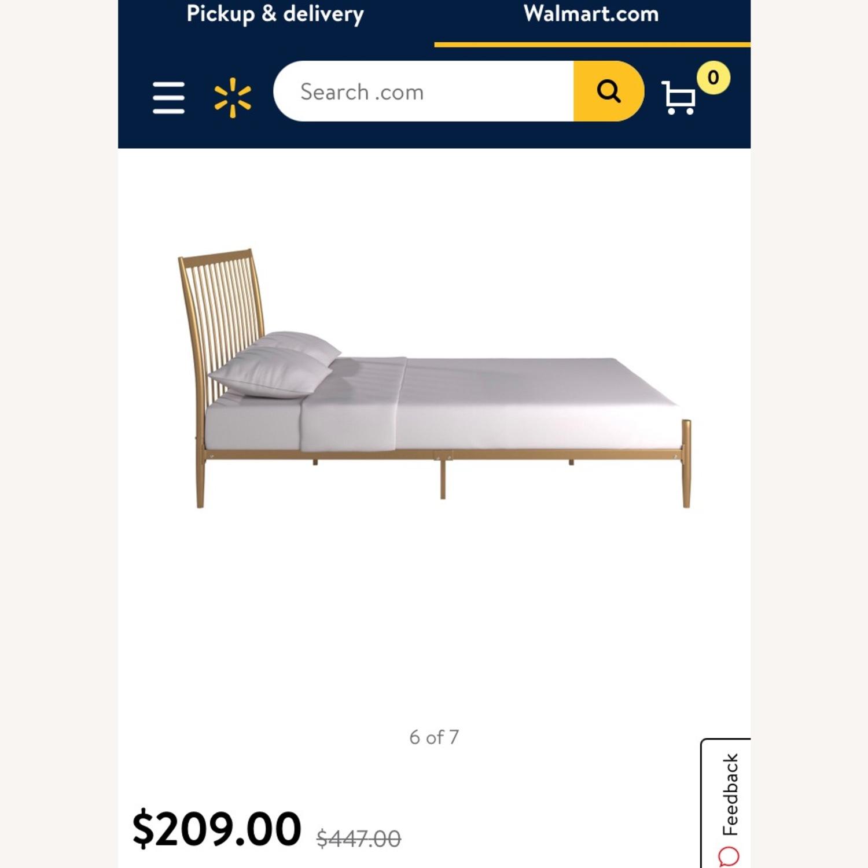 Walmart Gold Metal Full Bed Frame - image-4