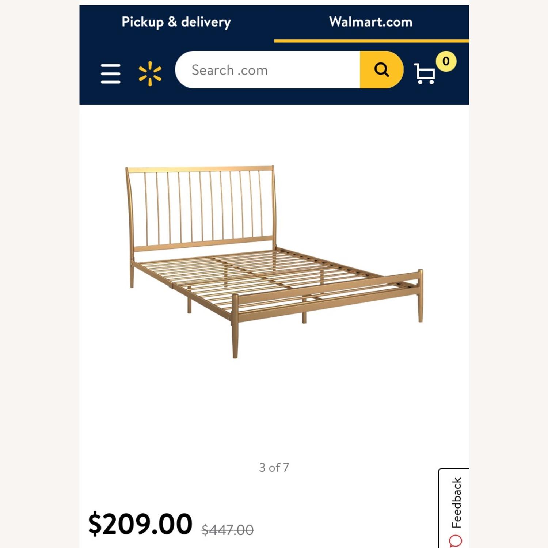 Walmart Gold Metal Full Bed Frame - image-3