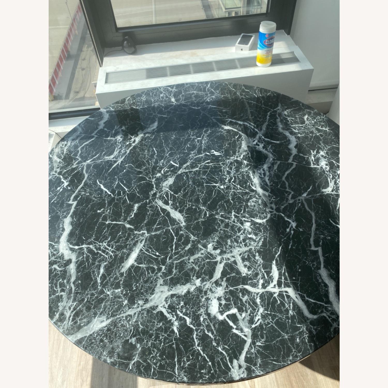 Meridiani Black Marble Round Dining Table - image-5