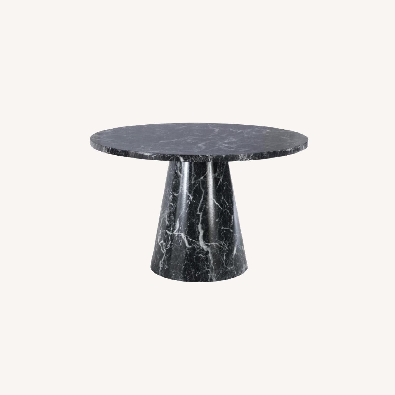Meridiani Black Marble Round Dining Table - image-0
