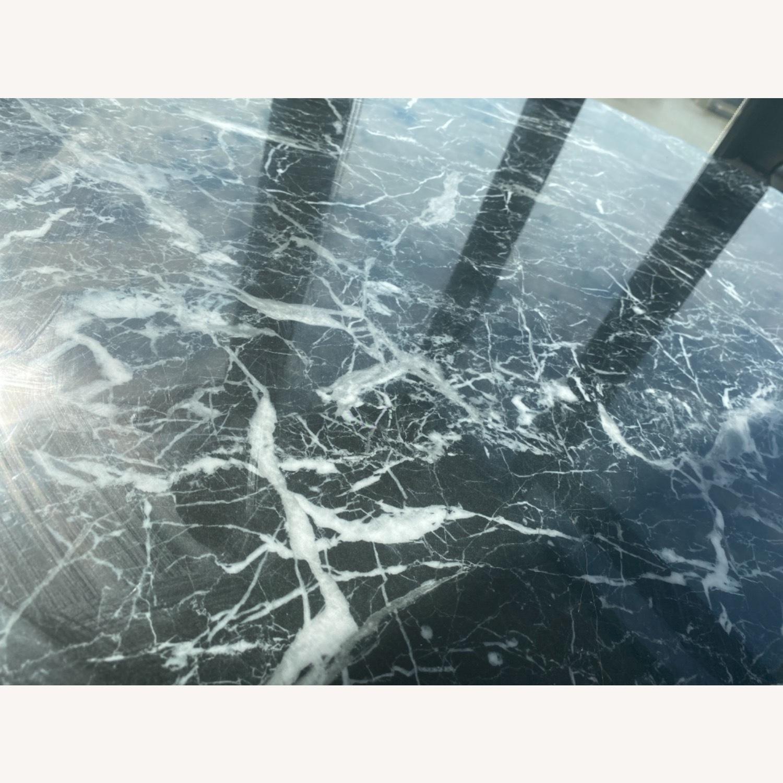 Meridiani Black Marble Round Dining Table - image-6