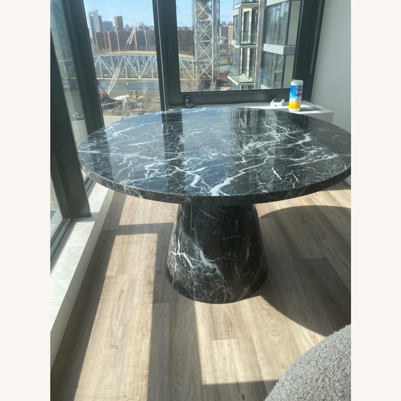 Meridiani Black Marble Round Dining Table - image-1