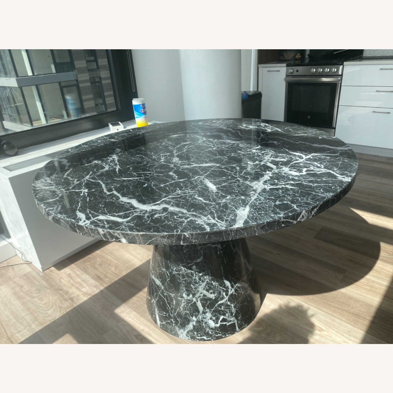 Meridiani Black Marble Round Dining Table - image-2