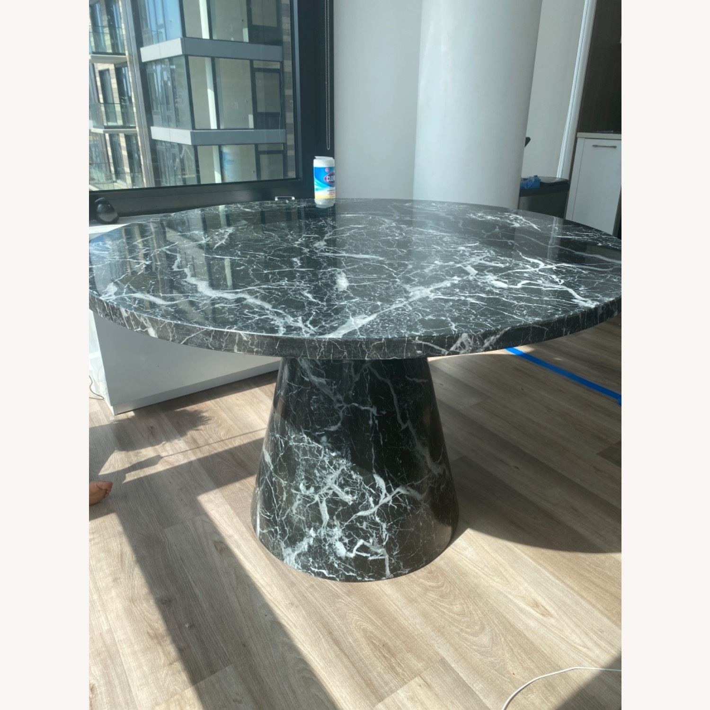 Meridiani Black Marble Round Dining Table - image-3