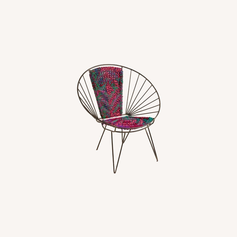 Metal Woven Chindi Chair - image-0