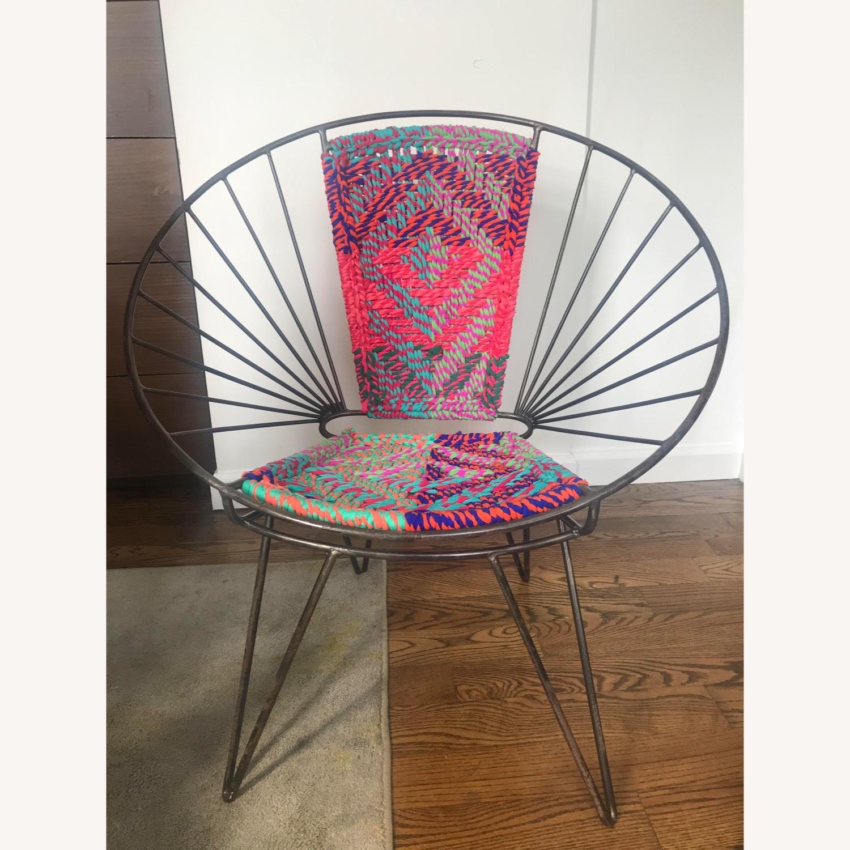 Metal Woven Chindi Chair - image-3