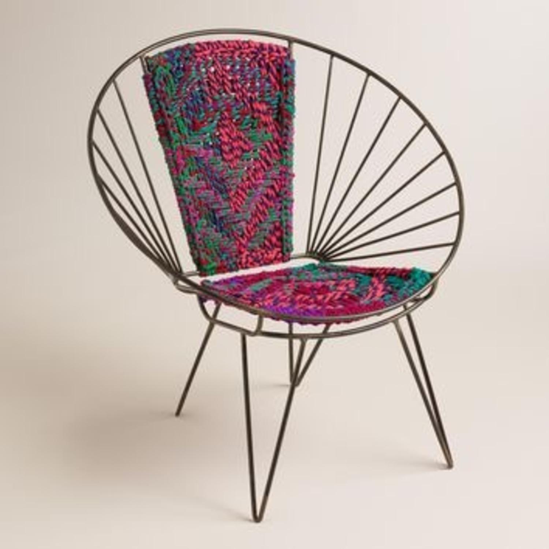 Metal Woven Chindi Chair - image-1