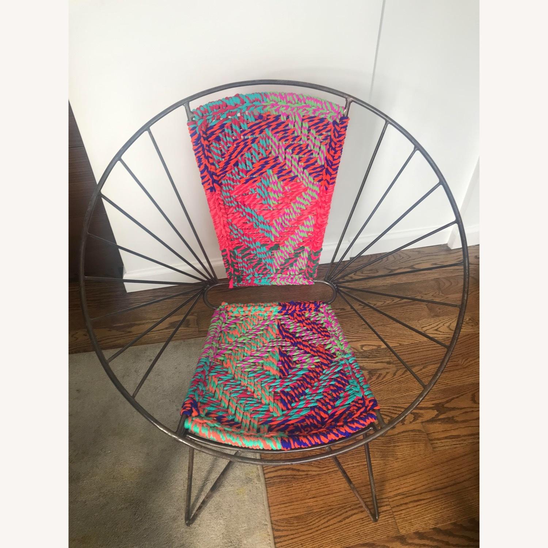 Metal Woven Chindi Chair - image-2