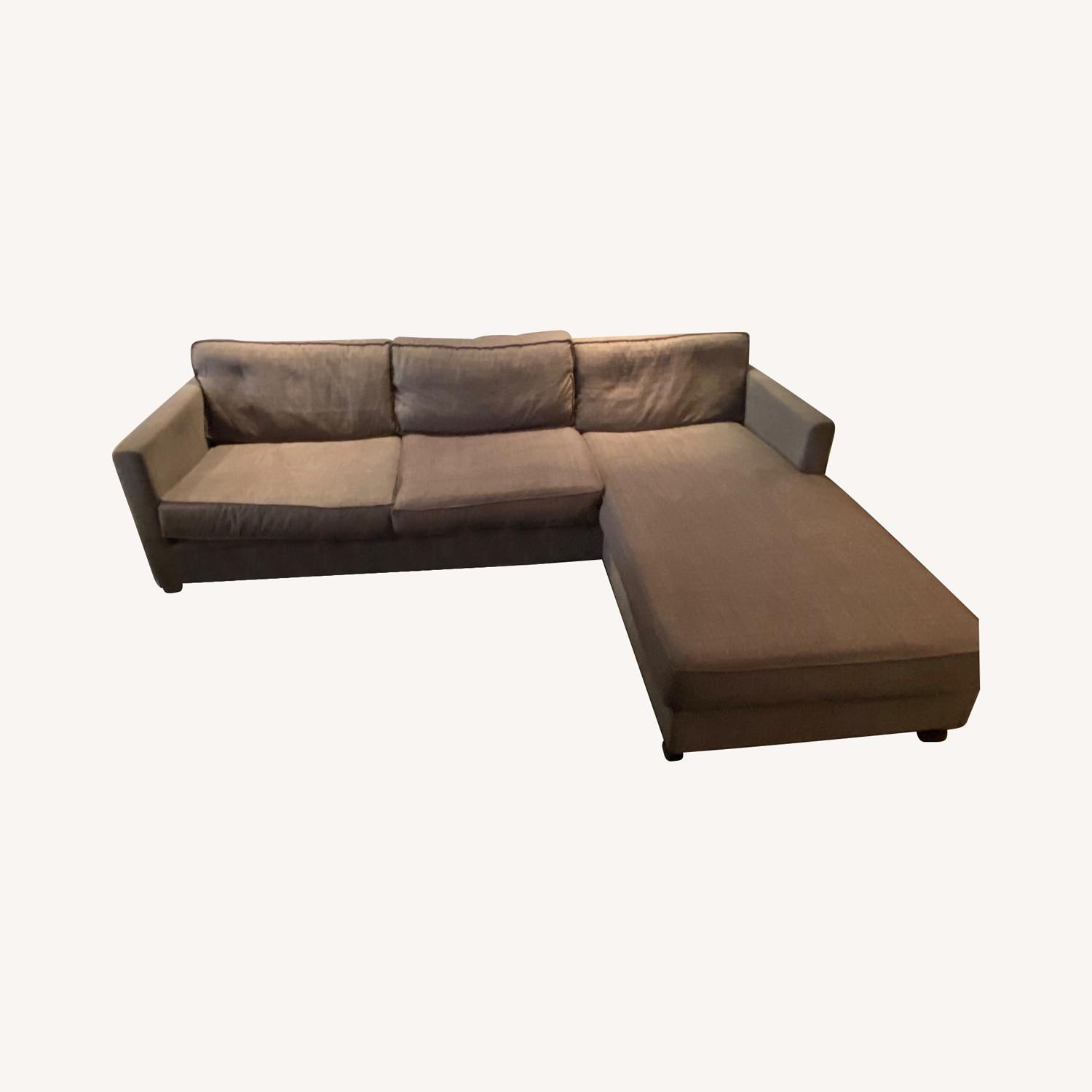 Gus Modern Dark Grey Couch with Chaise lounge - image-5