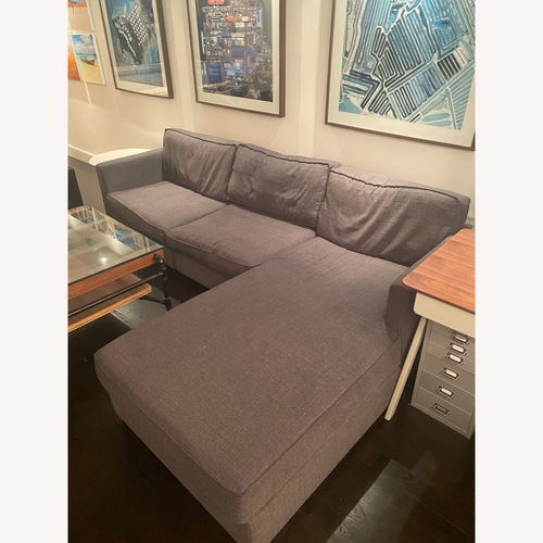 Used Gus Modern Dark Grey Couch with Chaise lounge for sale on AptDeco