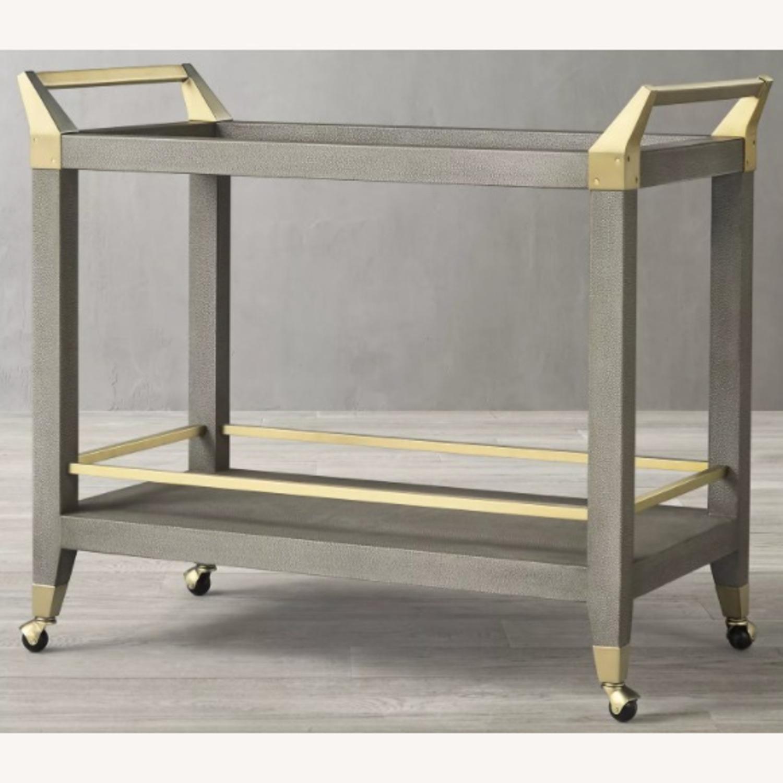 Restoration Hardware Bar Cart - image-3
