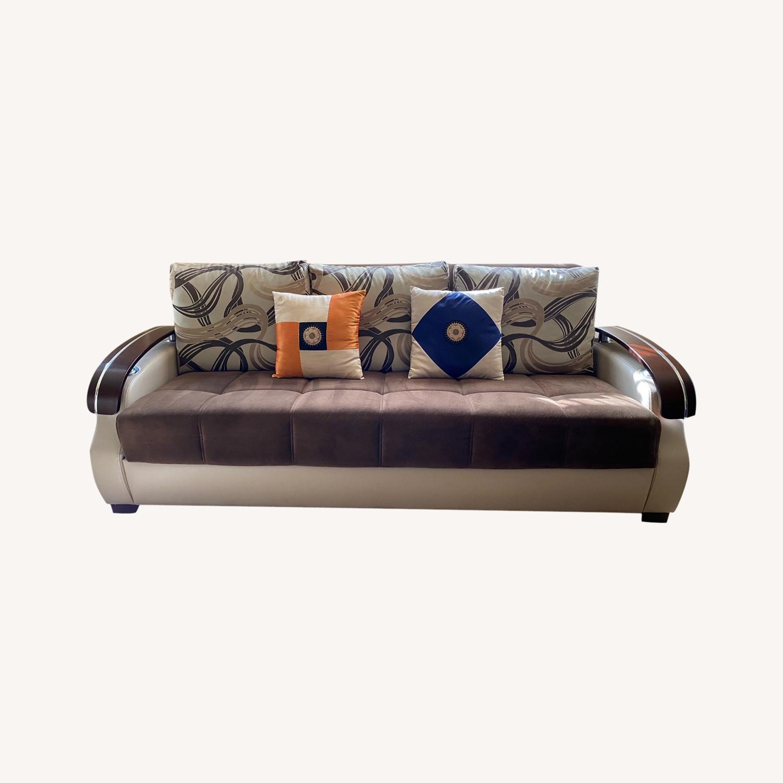 3+ Seater Folding Sofa - image-0