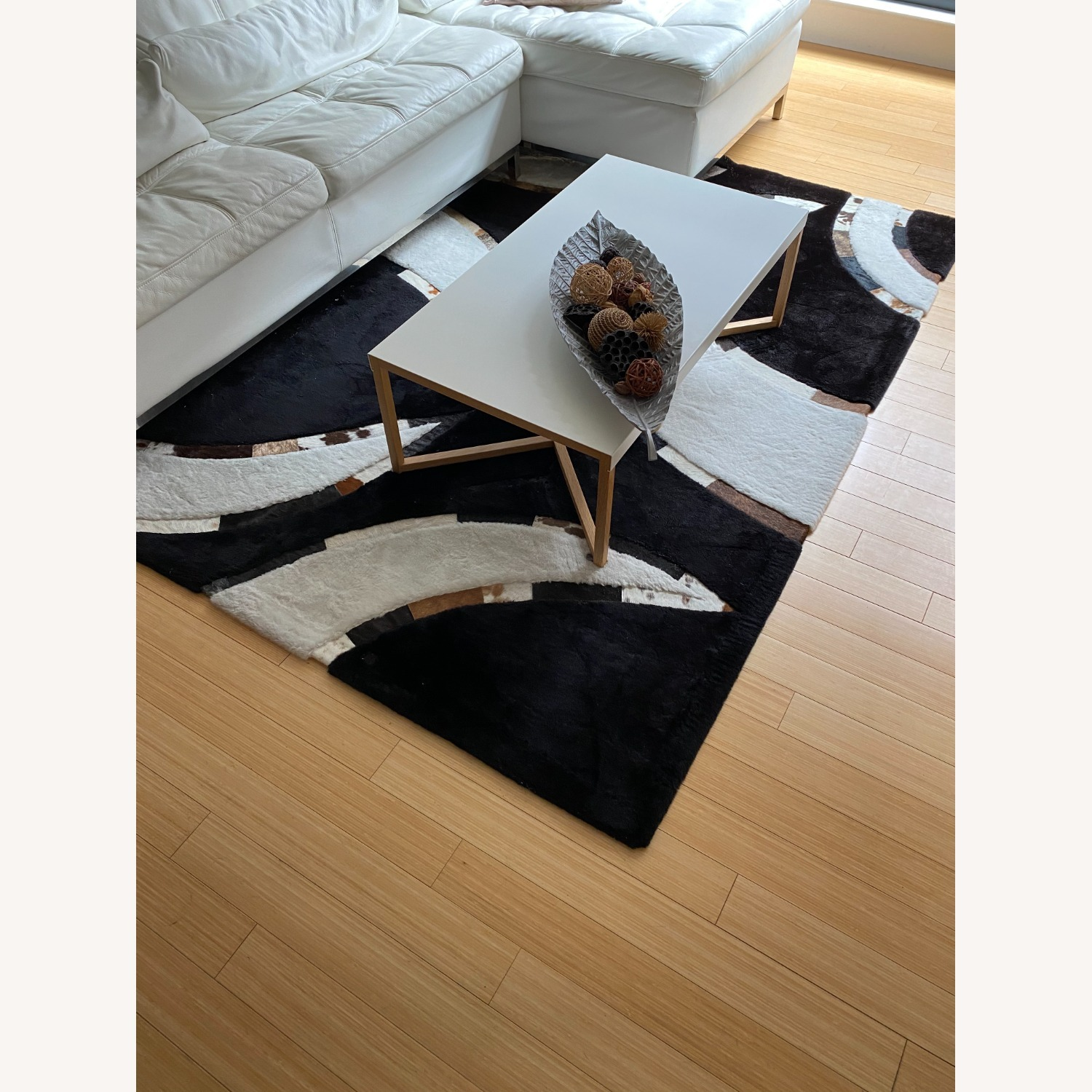 Area Rug with Cowhide Stripes - image-1