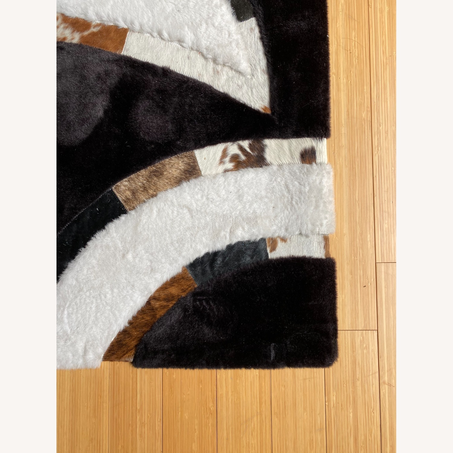Area Rug with Cowhide Stripes - image-3