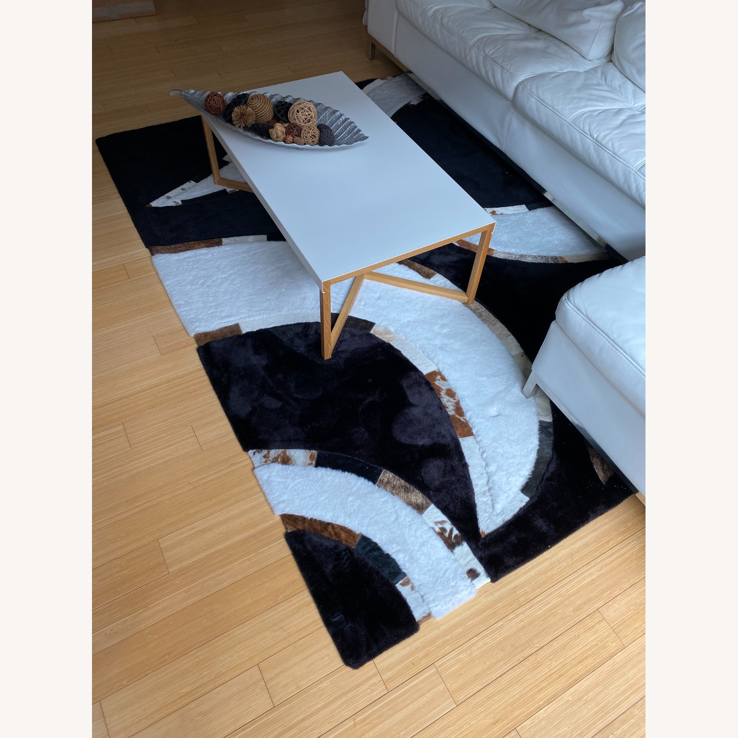 Area Rug with Cowhide Stripes - image-2