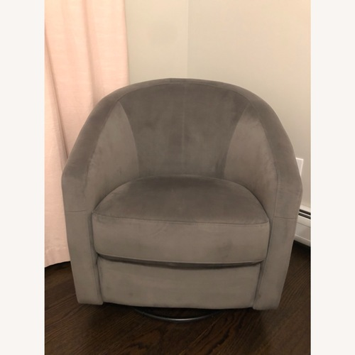Used Babyletto Grey Fabric Swivel Glider for sale on AptDeco