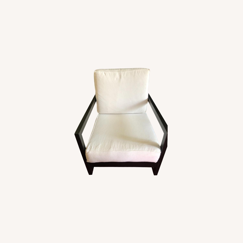 IKEA Dark Brown Wood Accent Chair - image-0
