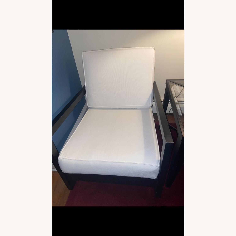 IKEA Dark Brown Wood Accent Chair - image-7