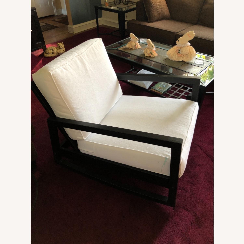 IKEA Dark Brown Wood Accent Chair - image-3
