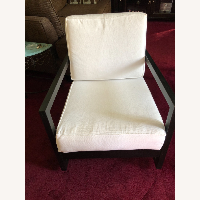 IKEA Dark Brown Wood Accent Chair - image-1